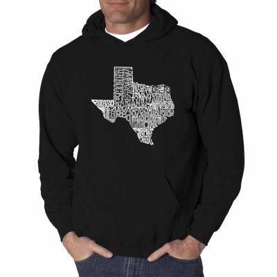 Los Angeles Pop Art the Great State of Texas LongSleeve Word Art Hoodie