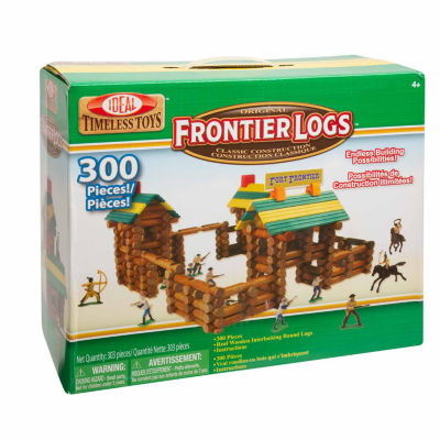 Ideal Frontier Logs Classic Wood 300 Piece Discovery Toy