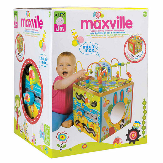 ALEX TOYS Alex Jr Maxville Wooden Activity Cube Interactive Toy - Unisex
