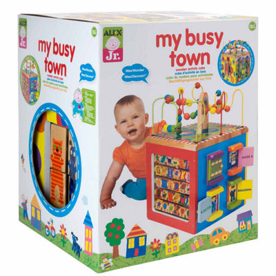 ALEX TOYS Alex Jr My Busytown Wooden Activity Cube Interactive Toy - Unisex