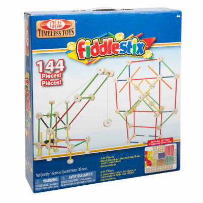 Ideal 144 Piece Fiddlestix Wood Connector Discovery Toy