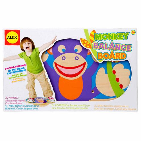 ALEX TOYS Active Play Monkey Balance Board 10-pc. Interactive Toy - Unisex