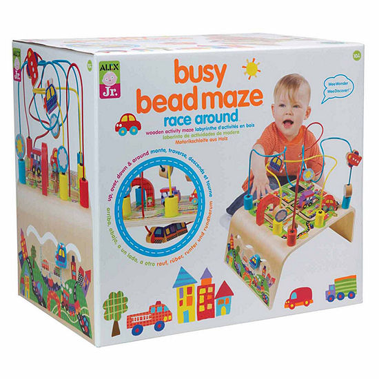 ALEX TOYS Alex Jr Busy Bead Race Around Wooden Interactive Toy - Unisex