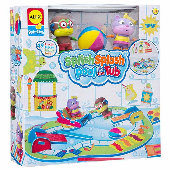 ALEX TOYS Rub A Dub Splish Splash Pool In Tub Toy Playset - Unisex
