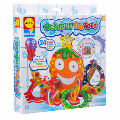 ALEX TOYS Rub A Dub Octopus Tub Toss 25-pc. Toy Playset - Unisex