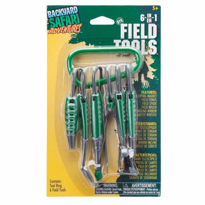 Backyard Safari 6 In 1 Field Tools 7-pc. Toy Tools