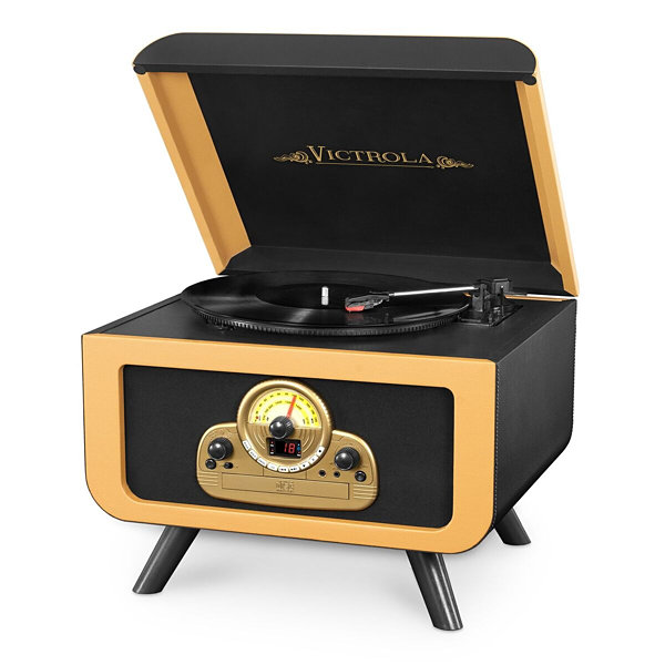 Victrola VTA-30 5-in-1 Vintage Tabletop Record Player with Bluetooth and CD Player