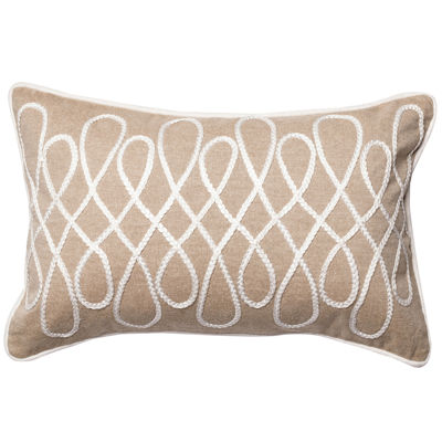Rectangle Bette Cotton Chambray Decorative Throw Pillow