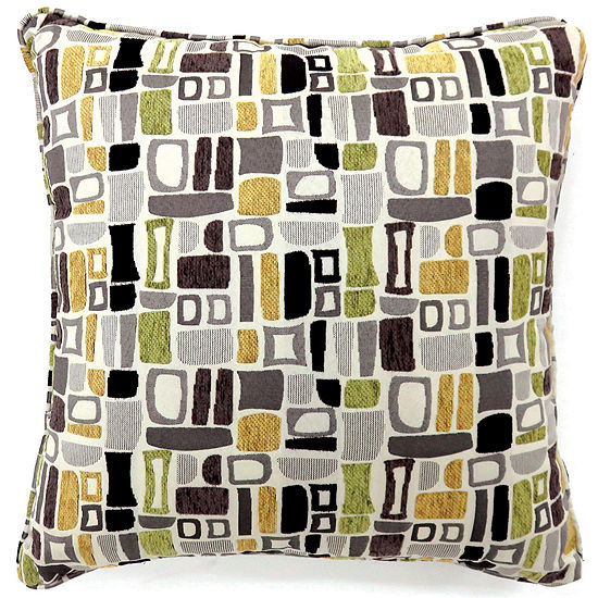 Yvonne Large Poly Decorative Square Throw Pillow
