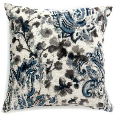 Iris Large Poly Decorative Square Throw Pillow Pillows