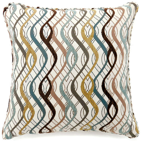 Vivienne Large Poly Decorative Square Throw Pillow