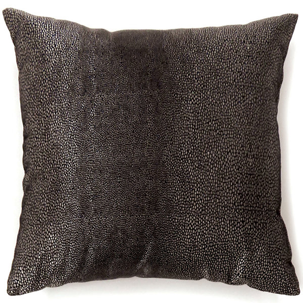 Knox Small Black Decorative Square Throw Pillow