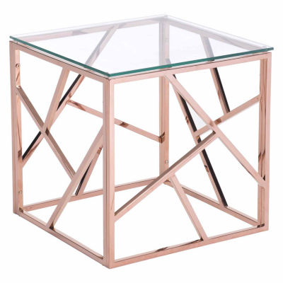 Cage Rose Gold End Table