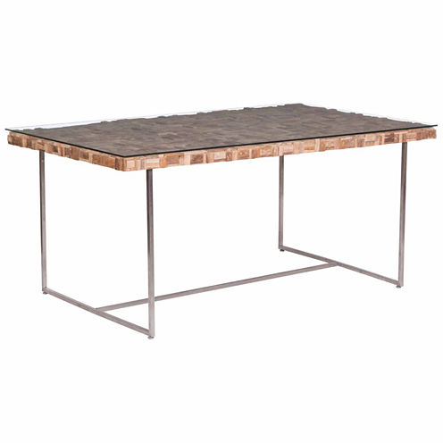 Zuo Modern Collage Rectangular Dining Table