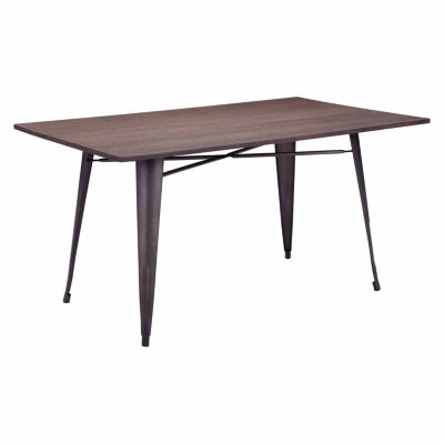Zuo Modern Titus Rustic Wood Rectangular Dining Table