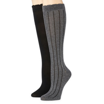 Libby Edelman 2 Pair Knee High Socks - Womens