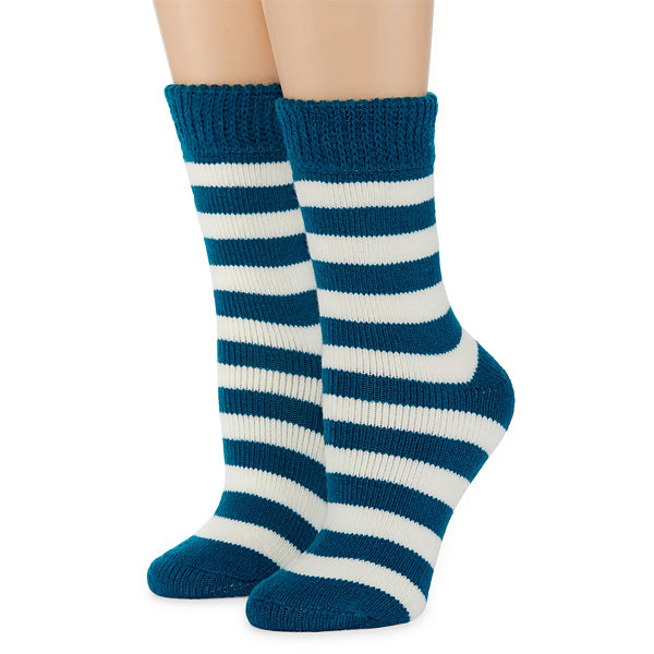 Mixit 2 Pair Thermal Feet Heater Boot Socks - Womens