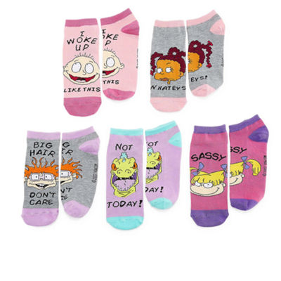 Mixit 5 Pair No Show Socks - Womens
