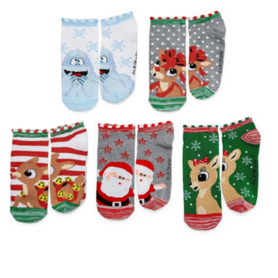 Mixit 5 Pr Rudolph  No Show Socks - Womens