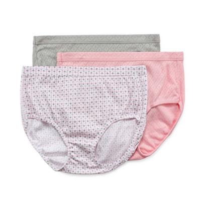 Jockey Elance® Breathe 3 Pack Knit Brief Panty 1542