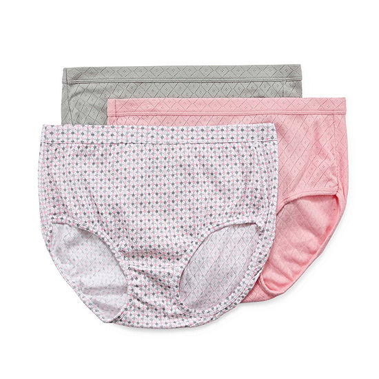 c80d2fbdb353 Jockey Elance Breathe 3 Pair Brief Panty JCPenney