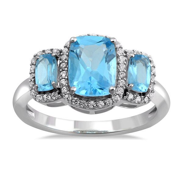 Fine Jewelry Womens White Sapphire Sterling Silver Cocktail Ring omvSM0bI