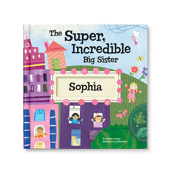 The Super, Incredible Big Sister Personalized Book with Medal