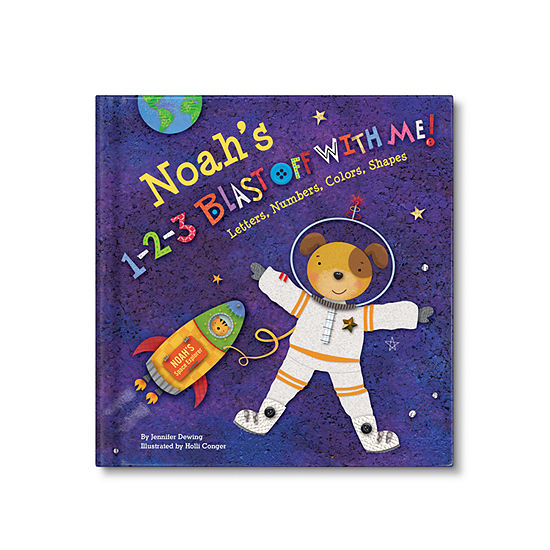 1-2-3 Blast Off with Me Personalized Book