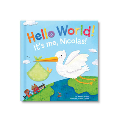 Hello World! Personalized Board Book for Boys