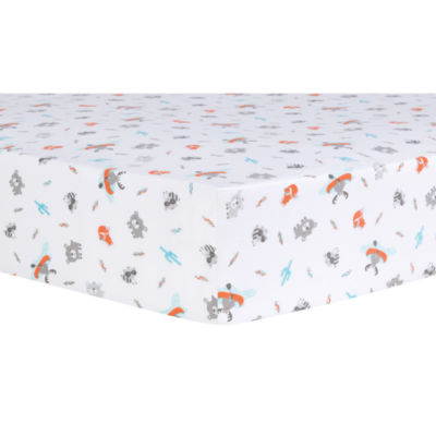 Trend Lab Moose Canoe Animals + Insects Crib Sheet