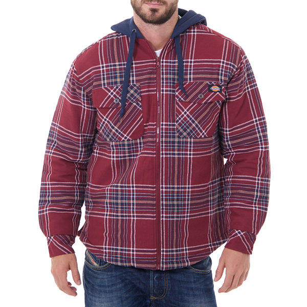 Dickies Long Sleeve Hooded Quilted Flannel Shirt - Big & Tall ... : quilted flannel shirts - Adamdwight.com