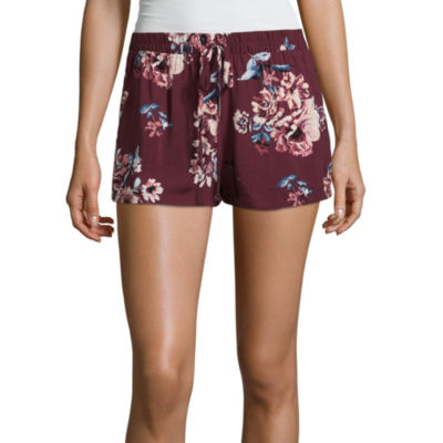 Bebop Floral Woven Soft Shorts-Juniors