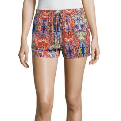 Bebop Daisy Woven Soft Shorts-Juniors