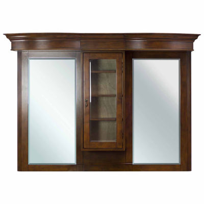 American Imaginations Traditional Birch Wood-Veneer Bathroom Mirror