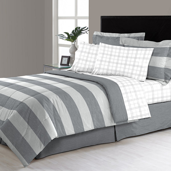Briggs Stripes Complete Bedding Set with Sheets