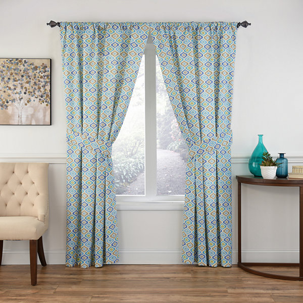 Waverly Lunar Lattice Rod-Pocket Curtain Panel