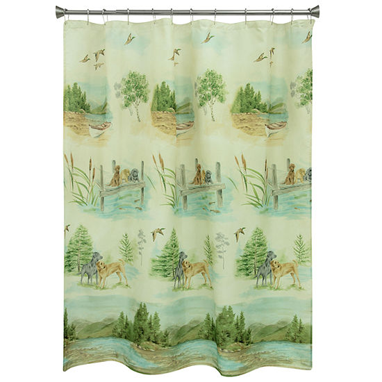 Bacova Guild Woodland Dogs Shower Curtain