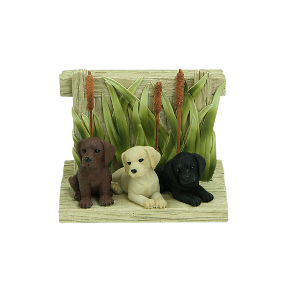 Bacova Guild Woodland Dogs Toothbrush Holder