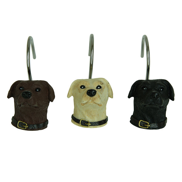 Bacova Guild Woodland Dogs Shower Curtain Hooks