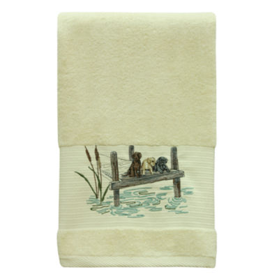 Bacova Guild Woodland Dogs Animal Bath Towel