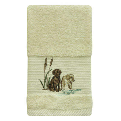 Bacova Guild Woodland Dogs Embellished Animal Bath Towel