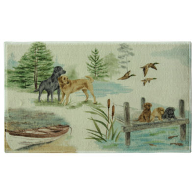 Bacova Guild Woodland Dogs Bath Rug
