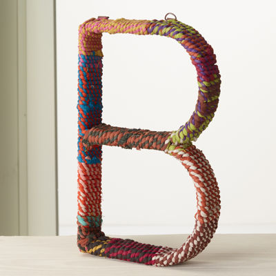 """St. Croix Trading Colorful Jute Wrapped 12"""" Letter"""""""