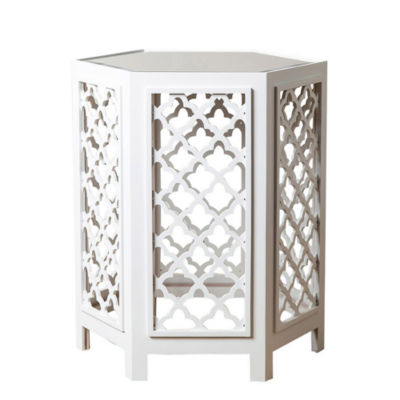 Emily Mirrored End Table
