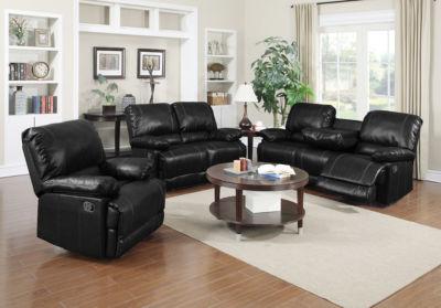 Dalton Bonded Leather Recliner Sofa