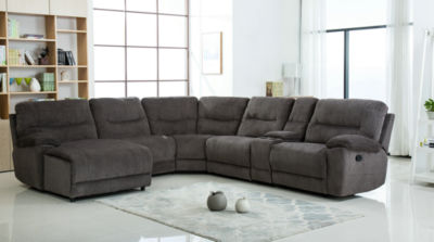 Nathan Chanille Sectional Recliner