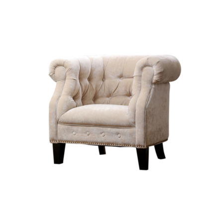 Devon & Claire Lucca Fabric Nailhead Trim Armchair