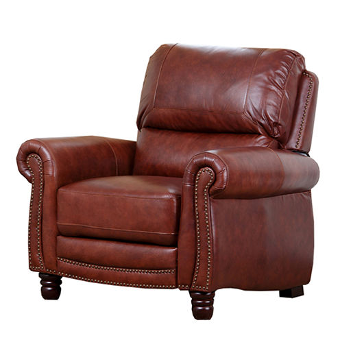 Devon & Claire Bryce Pushback Leather Recliner