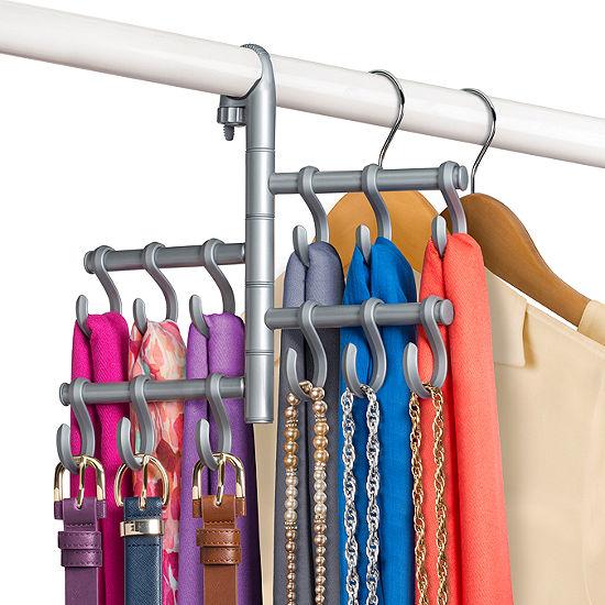 Lynk® Hanging Pivoting Scarf Holder - Jewelry, Belt, Accessory Hanger