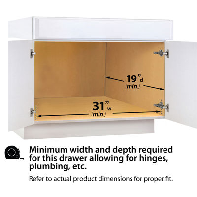Lynk Professional® U-Shaped Roll Out Under Sink Drawer – Pull Out Under Cabinet Organizer Shelf - Chrome